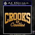 Crooks Castles Decal Sticker D4 Metallic Gold Vinyl 120x120