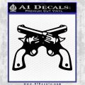 Crossed Pistols Revolvers INT Decal Sticker Black Vinyl Logo Emblem 120x120