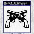Crossed Pistols Revolvers INT Decal Sticker Black Vinyl Logo Emblem 120x120