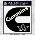Cummins Diesel Spartan Decal Sticker Black Vinyl Logo Emblem 120x120