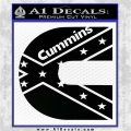 Cummins Rebel Flag Decal Sticker D1 Black Vinyl Logo Emblem 120x120