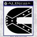 Cummins Rebel Flag Decal Sticker D2 Black Vinyl Logo Emblem 120x120