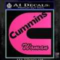 Cummins Woman Decal Sticker Hot Pink Vinyl 120x120
