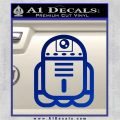 Cute Robot D2 Droid Decal Sticker Blue Vinyl 120x120