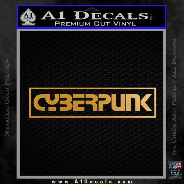 Cyberpunk Anime Decal Sticker RT Metallic Gold Vinyl