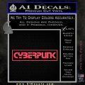 Cyberpunk Anime Decal Sticker RT Pink Vinyl Emblem 120x120
