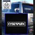 Cyberpunk Anime Decal Sticker RT White Vinyl Emblem 120x120