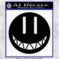 DRAMAtical Murder Noiz Smiley Button Decal Sticker Black Vinyl Logo Emblem 120x120