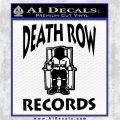 Death Row Records Decal Sticker Black Vinyl Logo Emblem 120x120