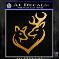 Deer Heart Stylized Decal Sticker VN Metallic Gold Vinyl 120x120