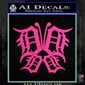 Detroit Butterfly Decal Sticker Tigers Hot Pink Vinyl 120x120