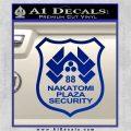 Die Hard Nakatomi Plaza Security Decal Sticker Blue Vinyl 120x120