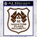 Die Hard Nakatomi Plaza Security Decal Sticker Brown Vinyl 120x120