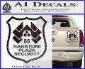 Die Hard Nakatomi Plaza Security Decal Sticker Carbon Fiber Black 120x97