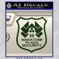 Die Hard Nakatomi Plaza Security Decal Sticker Dark Green Vinyl 120x120