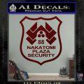 Die Hard Nakatomi Plaza Security Decal Sticker Dark Red Vinyl 120x120