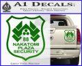 Die Hard Nakatomi Plaza Security Decal Sticker Green Vinyl 120x97
