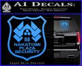 Die Hard Nakatomi Plaza Security Decal Sticker Light Blue Vinyl 120x97