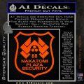 Die Hard Nakatomi Plaza Security Decal Sticker Orange Vinyl Emblem 120x120