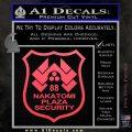 Die Hard Nakatomi Plaza Security Decal Sticker Pink Vinyl Emblem 120x120