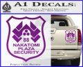 Die Hard Nakatomi Plaza Security Decal Sticker Purple Vinyl 120x97