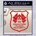 Die Hard Nakatomi Plaza Security Decal Sticker Red Vinyl 120x120