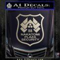 Die Hard Nakatomi Plaza Security Decal Sticker Silver Vinyl 120x120