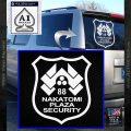 Die Hard Nakatomi Plaza Security Decal Sticker White Vinyl Emblem 120x120