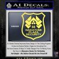 Die Hard Nakatomi Plaza Security Decal Sticker Yellow Vinyl 120x120