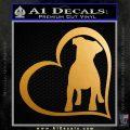 Dog Heart Puppy Love Decal Sticker Metallic Gold Vinyl 120x120