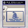 Dont Tread On Me Flag Decal Sticker Customizable Family Blue Vinyl 120x120