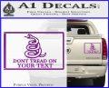 Dont Tread On Me Flag Decal Sticker Customizable Family Purple Vinyl 120x97