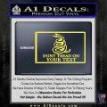 Dont Tread On Me Flag Decal Sticker Customizable Family Yellow Vinyl 120x120