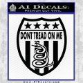Dont Tread On Me Shield Decal Sticker Black Vinyl Logo Emblem 120x120