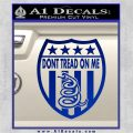 Dont Tread On Me Shield Decal Sticker Blue Vinyl 120x120