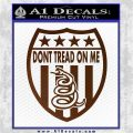 Dont Tread On Me Shield Decal Sticker Brown Vinyl 120x120