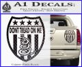 Dont Tread On Me Shield Decal Sticker Carbon Fiber Black 120x97