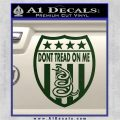 Dont Tread On Me Shield Decal Sticker Dark Green Vinyl 120x120