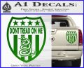 Dont Tread On Me Shield Decal Sticker Green Vinyl 120x97
