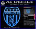 Dont Tread On Me Shield Decal Sticker Light Blue Vinyl 120x97