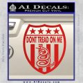 Dont Tread On Me Shield Decal Sticker Red Vinyl 120x120