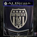 Dont Tread On Me Shield Decal Sticker Silver Vinyl 120x120