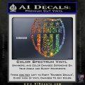 Dont Tread On Me Shield Decal Sticker Sparkle Glitter Vinyl Sparkle Glitter 120x120