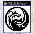 Dragon Yin Yang Decal Sticker Black Vinyl Logo Emblem 120x120