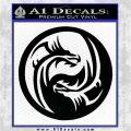 Dragon Yin Yang Decal Sticker Black Vinyl Logo Emblem 120x120
