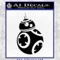 Droid Space Battle D2 Decal Sticker Robot Black Vinyl Logo Emblem 120x120