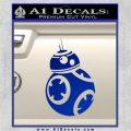 Droid Space Battle D2 Decal Sticker Robot Blue Vinyl 120x120