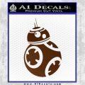 Droid Space Battle D2 Decal Sticker Robot Brown Vinyl 120x120