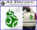 Droid Space Battle D2 Decal Sticker Robot Green Vinyl 120x97