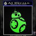 Droid Space Battle D2 Decal Sticker Robot Lime Green Vinyl 120x120